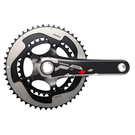 SRAM Red 22 BB30 Compact Chainset - 177.5mm x 50/34 Black/Silver
