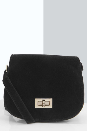 Saddle Cross Body Bag - black