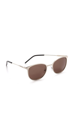 Saint Laurent Metal Sunglasses - Palladium Black/Brown