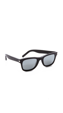 Saint Laurent Mirrored Sunglasses - Black/Black Mirror