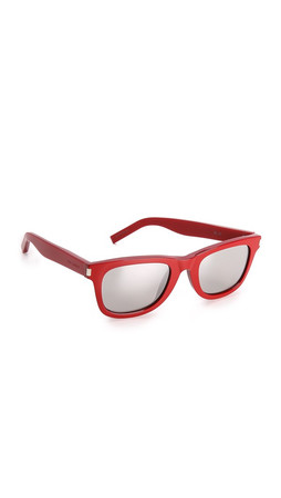 Saint Laurent Mirrored Sunglasses - Red/Silver Mirror