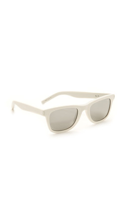 Saint Laurent Mirrored Sunglasses - White/Silver Mirror