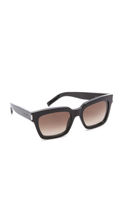Saint Laurent Strong Sunglasses - Black/Brown Gradient