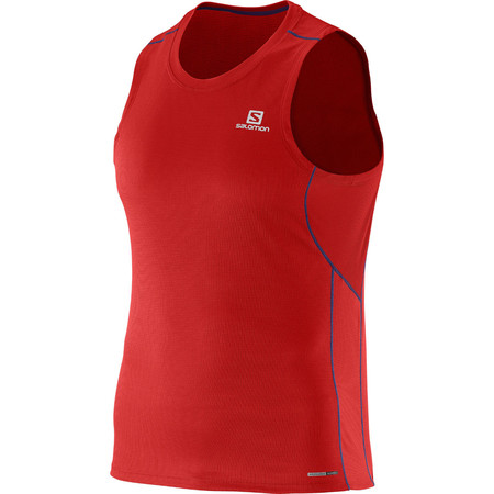 Salomon Agile Tank (SS16) - Large Red/Blue | Running Singlets