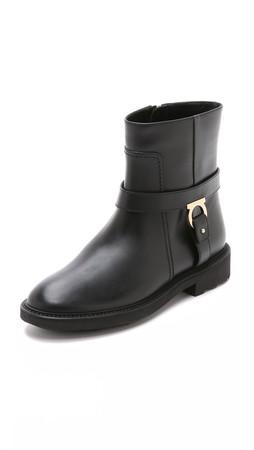 Salvatore Ferragamo Lampo Moto Boots - Nero
