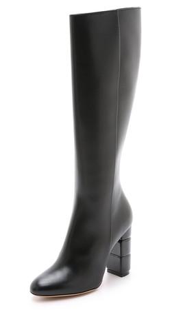 Salvatore Ferragamo Leon C Tall Boots - Nero