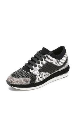 Salvatore Ferragamo Lisel Patch Sneakers - Nero