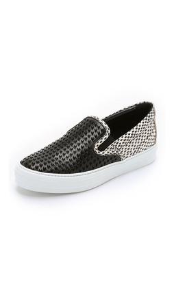 Salvatore Ferragamo Pacau Patch Slip On Sneakers - Nero