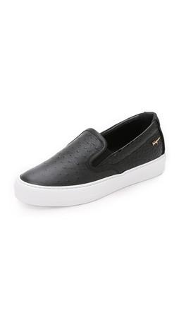 Salvatore Ferragamo Pacau Slip On Sneakers - Nero