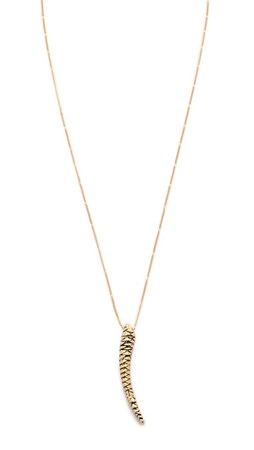 Sam Edelman Claw Pendant Necklace - Gold