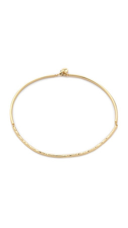 Sam Edelman Crinkle Hinge Necklace - Gold