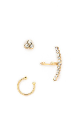 Sam Edelman Cuff And Post Earring Set - Gold