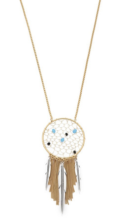 Sam Edelman Dreamcatcher Pendant Necklace - Two Tone