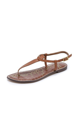 Sam Edelman Gigi Flat Sandals - Saddle