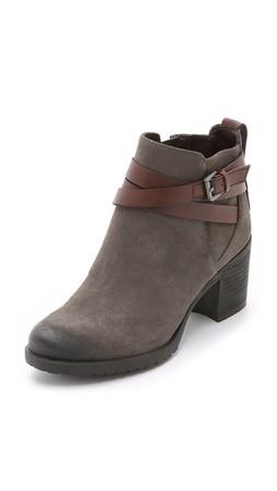 Sam Edelman Hannah Lug Sole Booties - Steel Grey/Dark Sienna