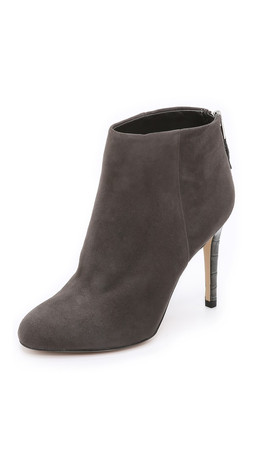 Sam Edelman Kourtney Suede Booties - Steel Grey
