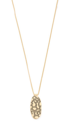 Sam Edelman Large Oval Pendant Necklace - Gold