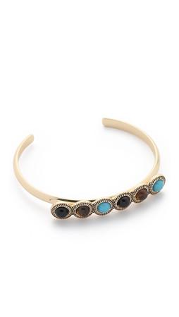 Sam Edelman Multi Stone Cuff Bracelet - Multi/Gold