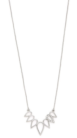 Sam Edelman Open Tear Necklace - Rhodium