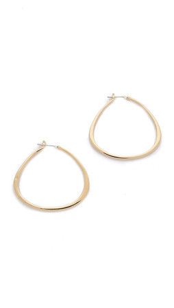 Sam Edelman Organic Hoop Earrings - Gold