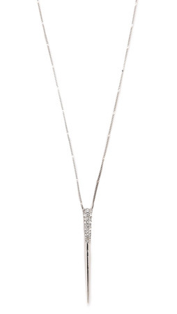 Sam Edelman Pave Spike Pendant Necklace - Rhodium
