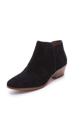 Sam Edelman Petty Suede Booties - Black