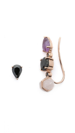 Samantha Wills Horse & Hummingbirds Earrings - Rose Gold Multi