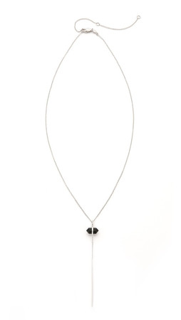 Samantha Wills Outsiders Drop Necklace - Silver/Onyx