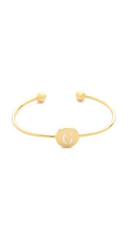 Sarah Chloe Ella Engraved Adjustable Bracelet - G