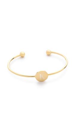 Sarah Chloe Ella Engraved Adjustable Bracelet - K