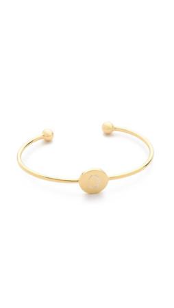Sarah Chloe Ella Engraved Adjustable Bracelet - Q
