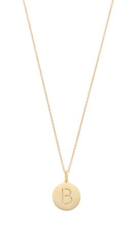 Sarah Chloe Eva Engraved Pendant Necklace - B