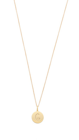 Sarah Chloe Eva Engraved Pendant Necklace - G
