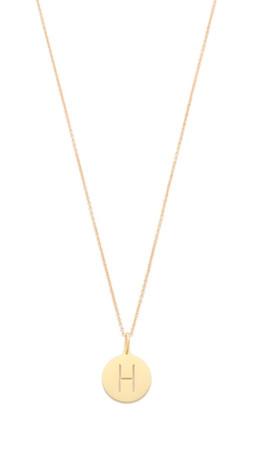 Sarah Chloe Eva Engraved Pendant Necklace - H