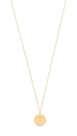 Sarah Chloe Eva Engraved Pendant Necklace - I