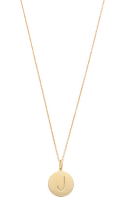 Sarah Chloe Eva Engraved Pendant Necklace - J