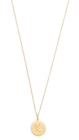 Sarah Chloe Eva Engraved Pendant Necklace - K