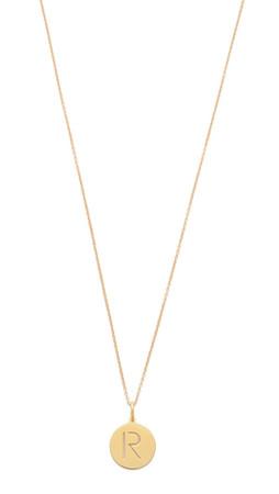 Sarah Chloe Eva Engraved Pendant Necklace - R