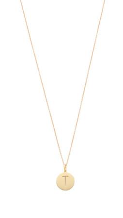 Sarah Chloe Eva Engraved Pendant Necklace - T