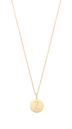 Sarah Chloe Eva Engraved Pendant Necklace - Z