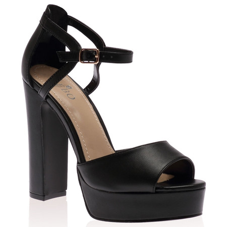 Sasha Platform Heels In Black