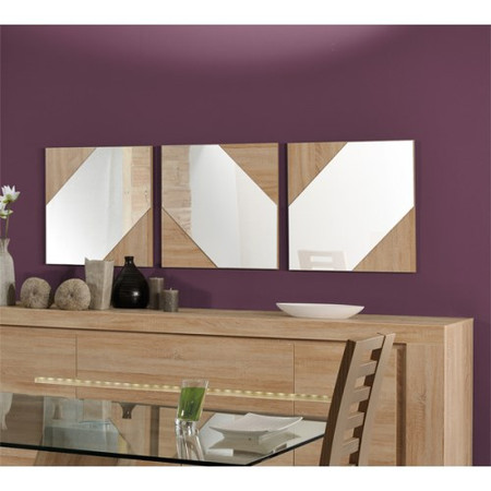 Sciae Season 51 Set of 3 Mirrors in Oak