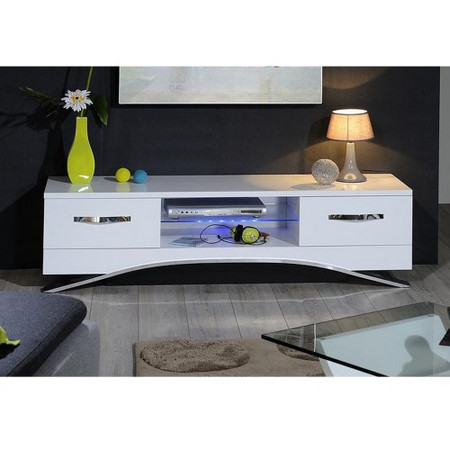 Sciae Smooth White High Gloss TV Cabinet