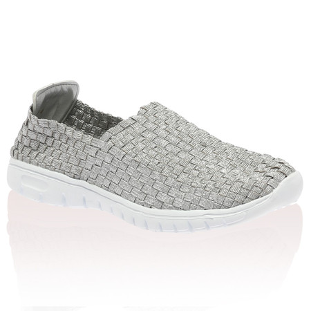Scout Silver Woven Trainer