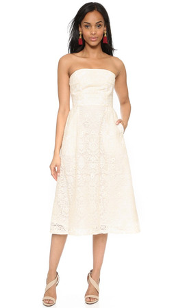 Sea Strapless Dress - Cream