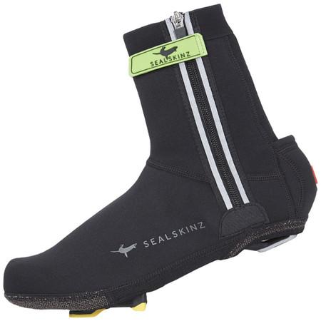 SealSkinz Halo Overshoes - Medium Black/Red | Overshoes