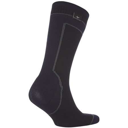 SealSkinz Hydrostop Mid Weight Mid Length Socks - Extra Large Black