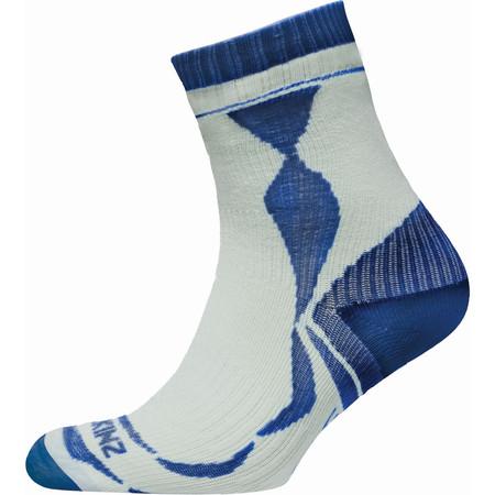 SealSkinz Thin Ankle Length Socks - Medium White/Navy
