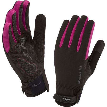 SealSkinz Women's All Weather Cycle Glove - Medium Black/Plum