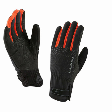 SealSkinz Women's All Weather XP Cycle Gloves - Small Black/Red